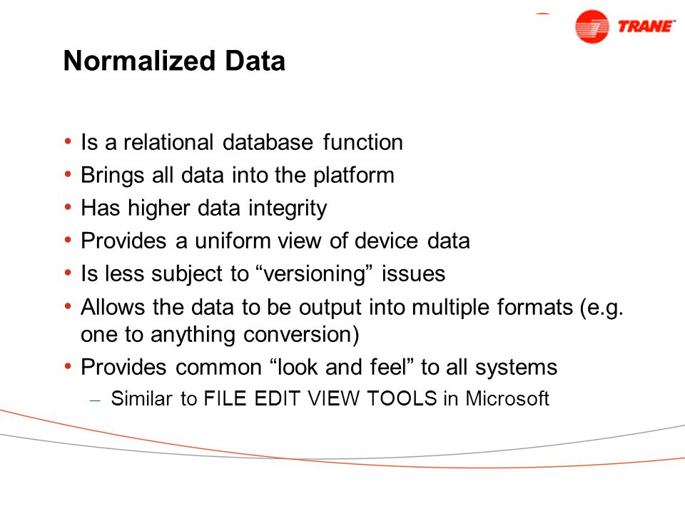 Normalized Data Is a relational database function