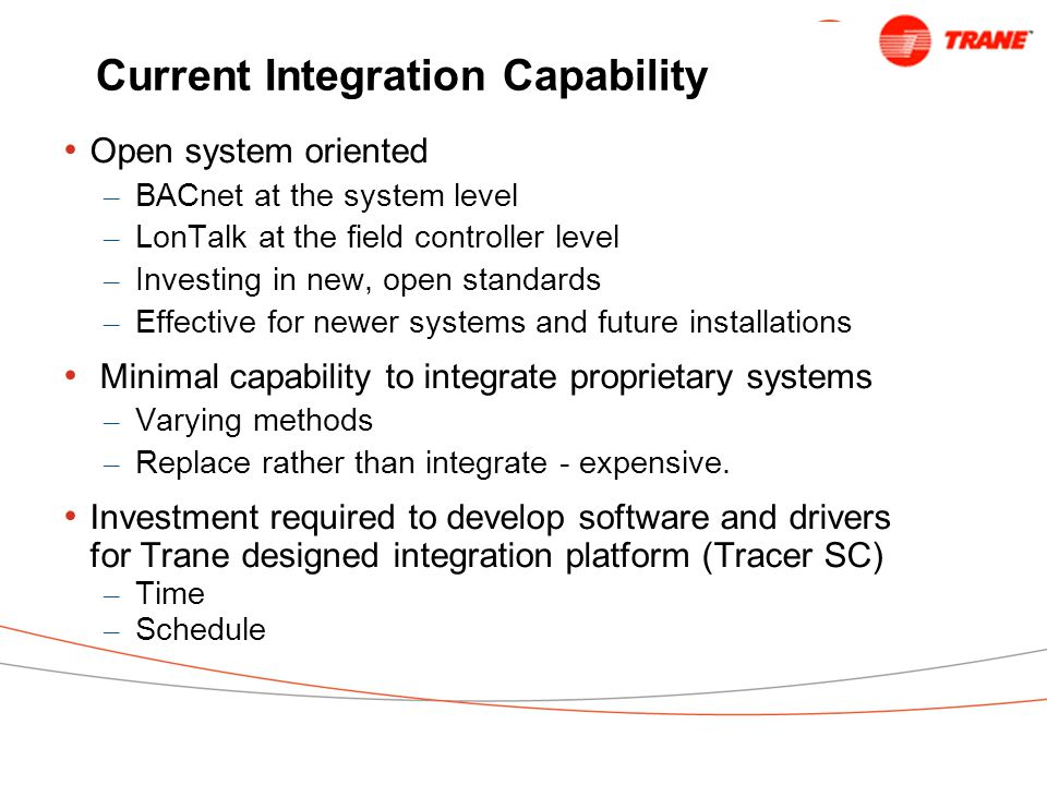 Current Integration Capability