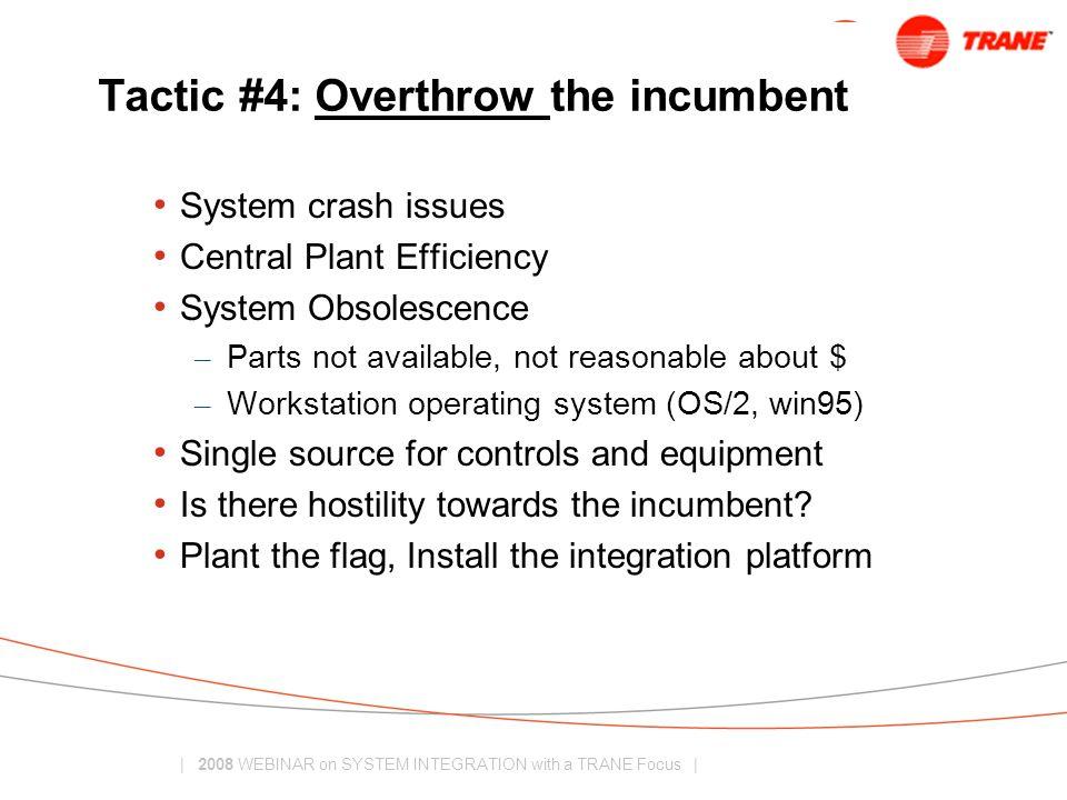 Tactic #4: Overthrow the incumbent