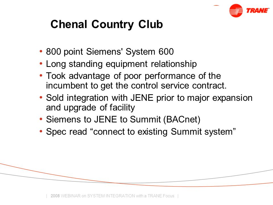 Chenal Country Club 800 point Siemens System 600