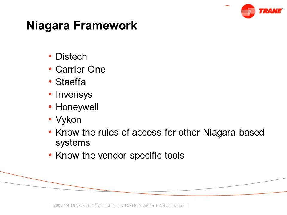 Niagara Framework Distech Carrier One Staeffa Invensys Honeywell Vykon
