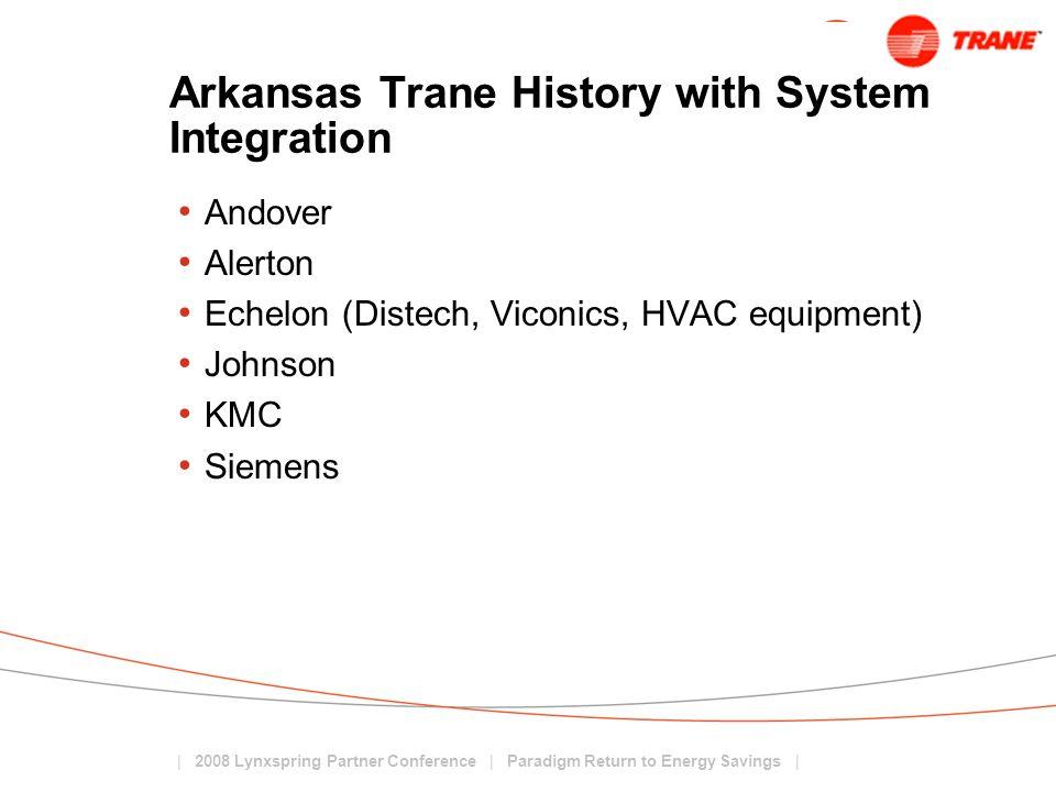 Arkansas Trane History with System Integration