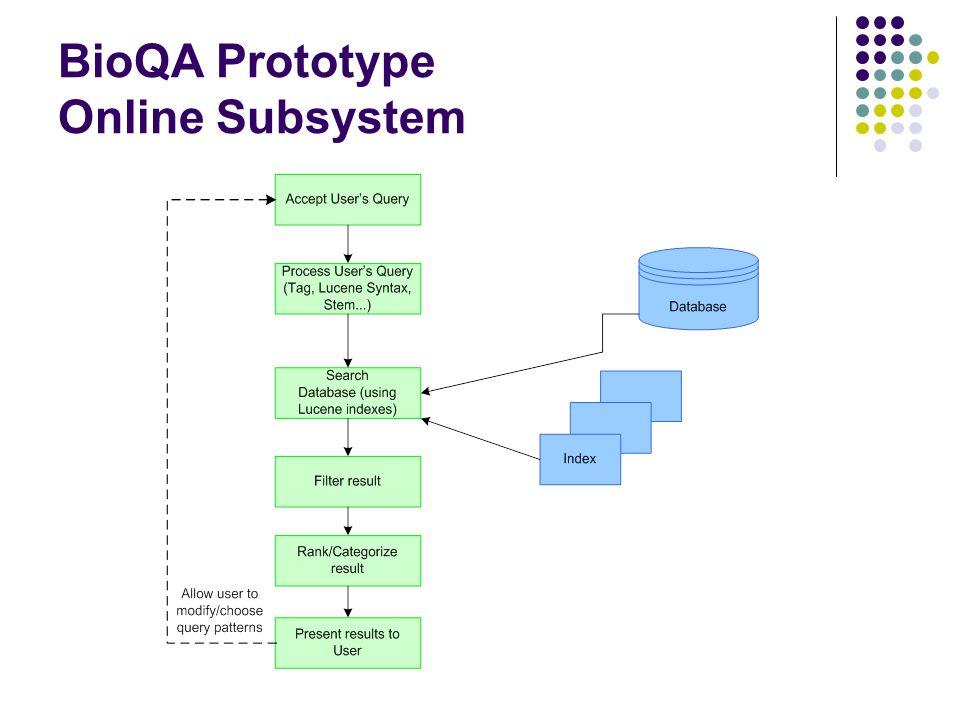 BioQA Prototype Online Subsystem
