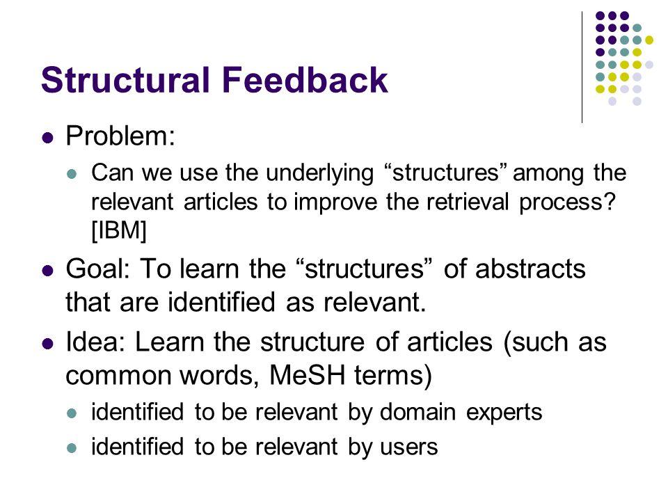 Structural Feedback Problem:
