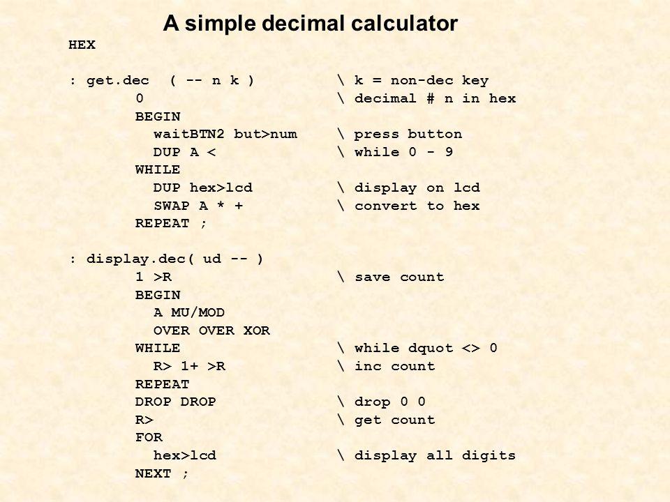 A simple decimal calculator