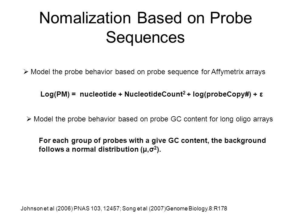 Nomalization Based on Probe Sequences