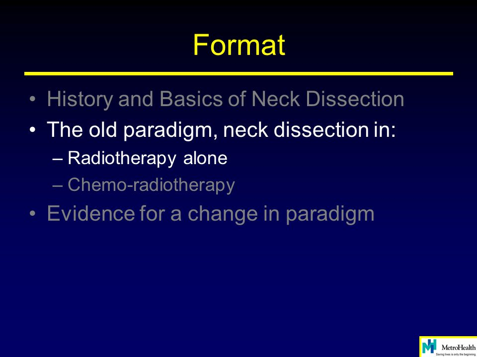Format History and Basics of Neck Dissection