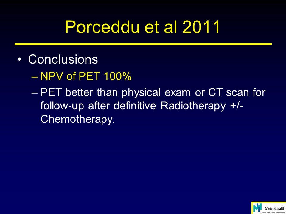 Porceddu et al 2011 Conclusions NPV of PET 100%