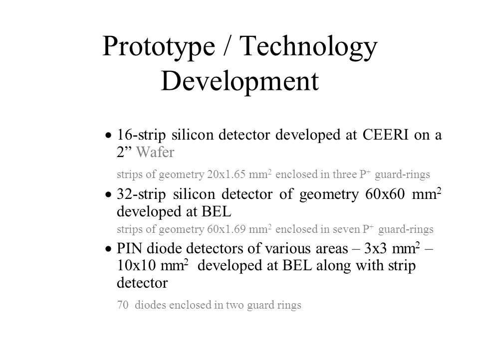 Prototype / Technology Development