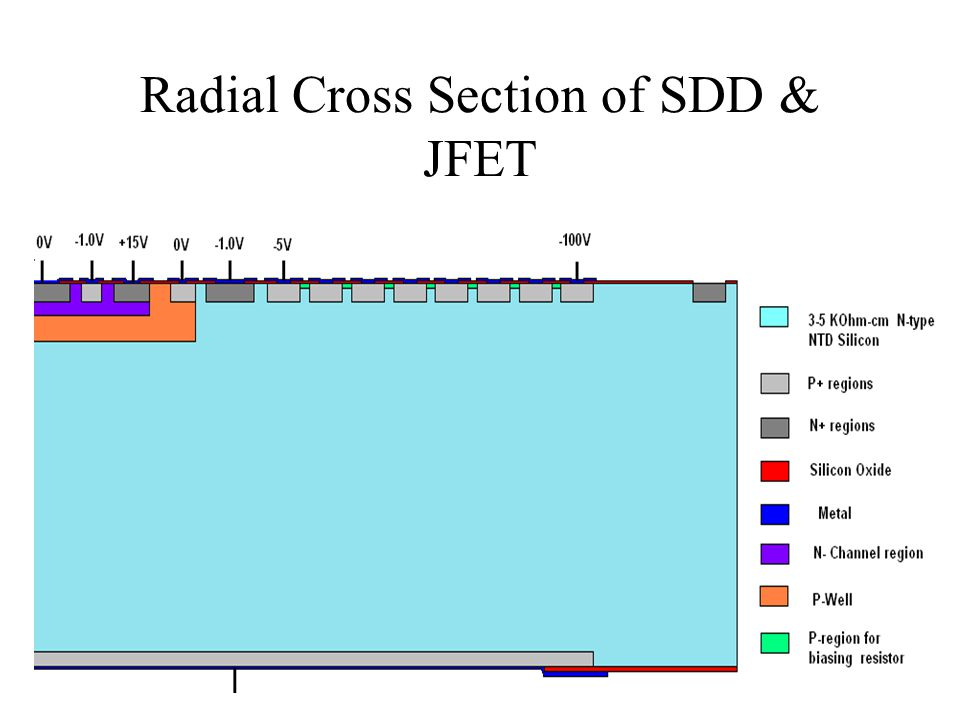 Radial Cross Section of SDD & JFET