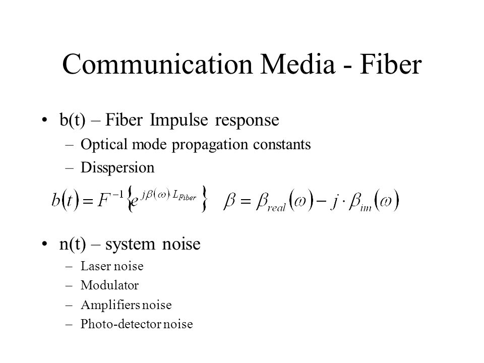 Communication Media - Fiber