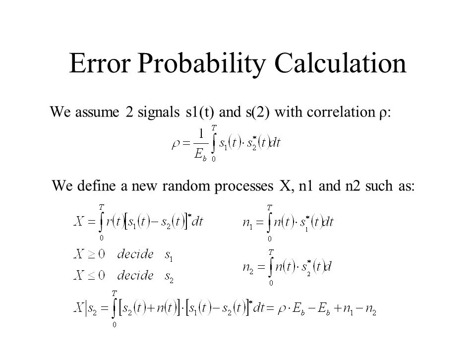 Error Probability Calculation