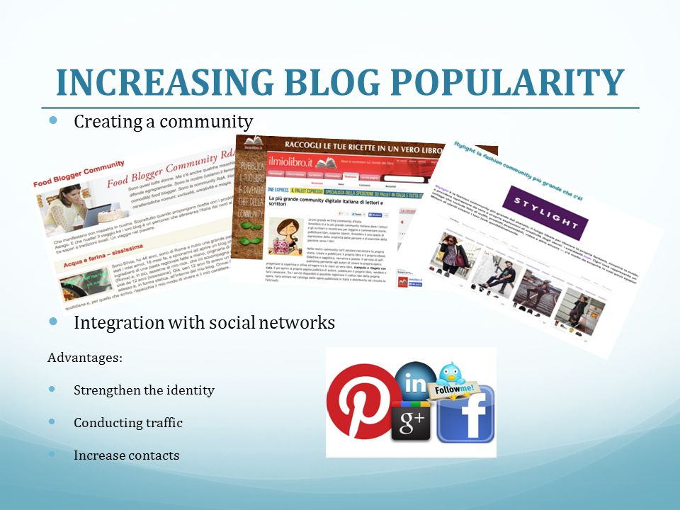 INCREASING BLOG POPULARITY
