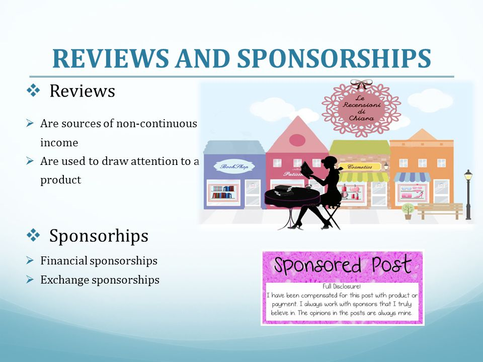 REVIEWS AND SPONSORSHIPS