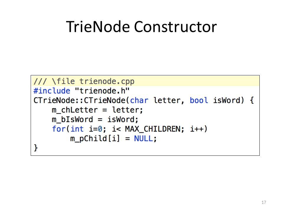 TrieNode Constructor