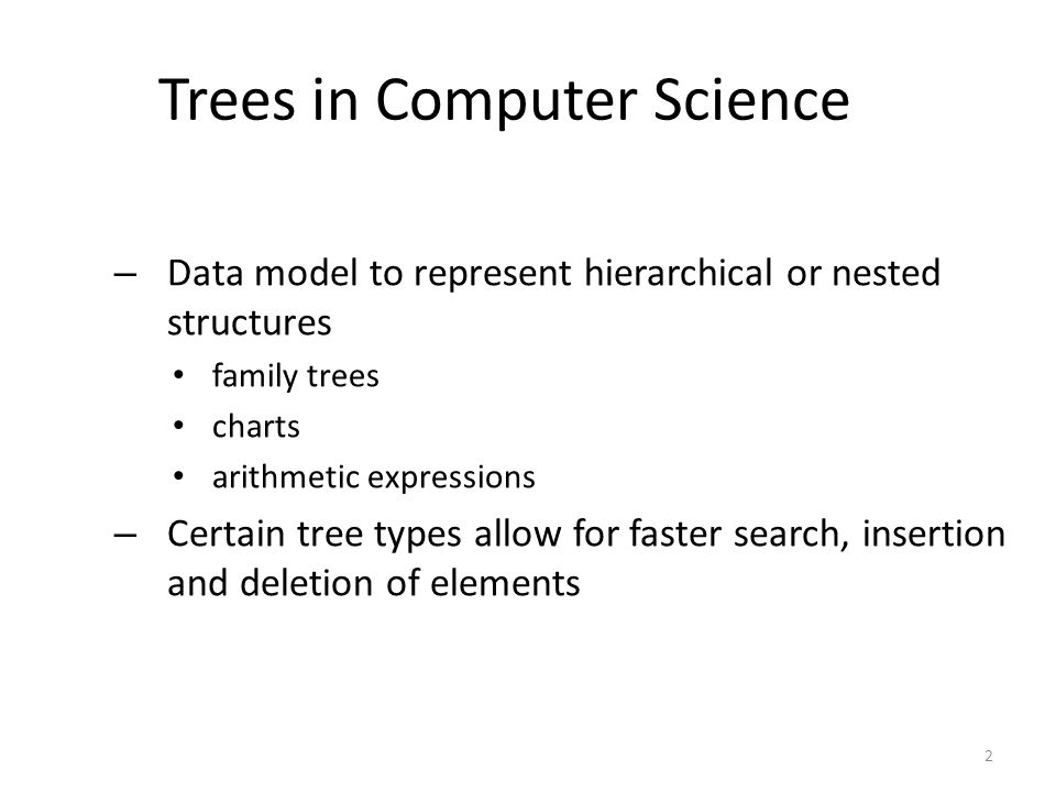 Trees in Computer Science