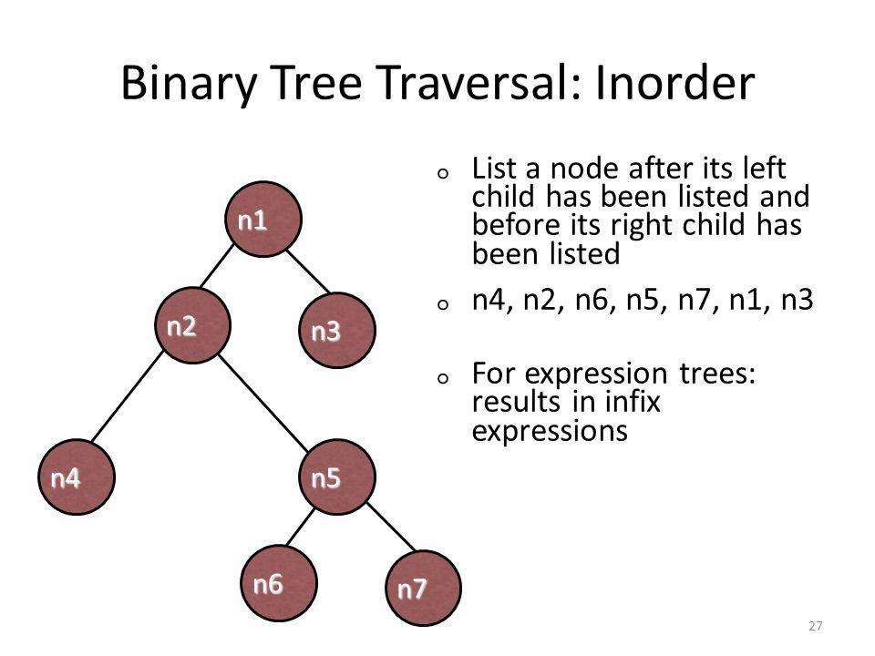 Binary Tree Traversal: Inorder