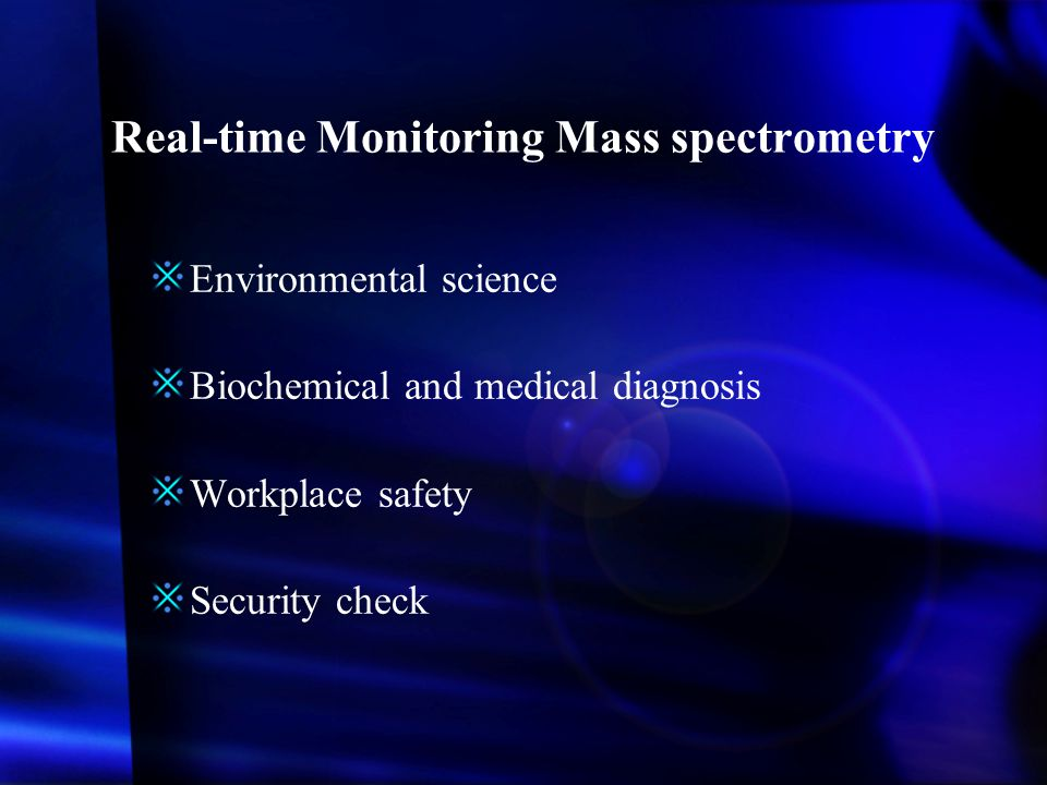 Real-time Monitoring Mass spectrometry