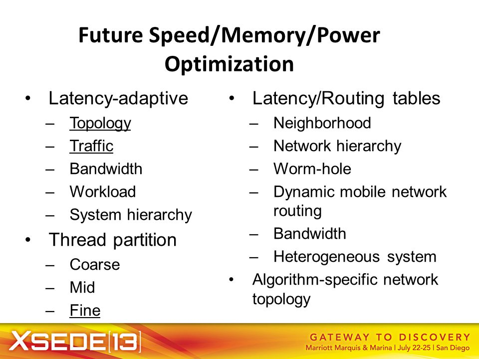Future Speed/Memory/Power Optimization