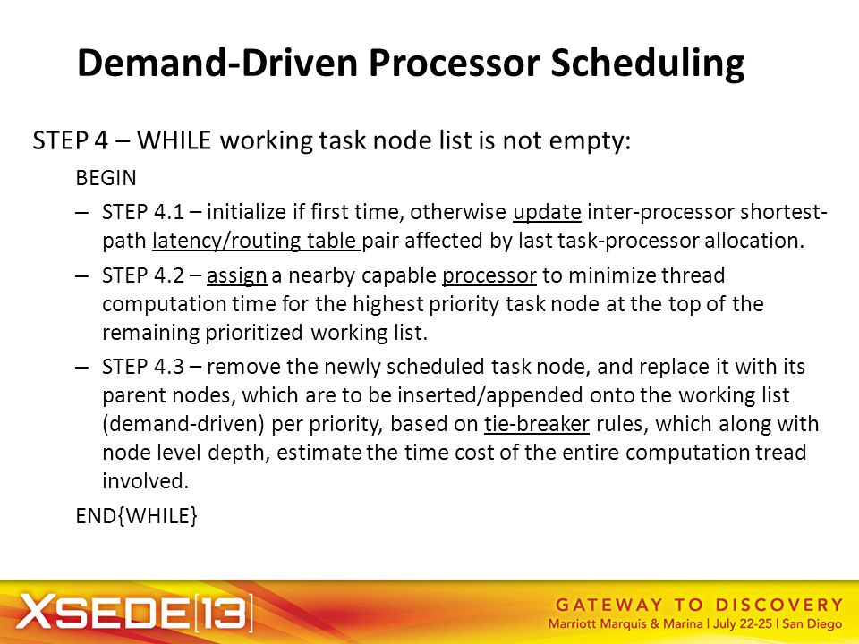 Demand-Driven Processor Scheduling