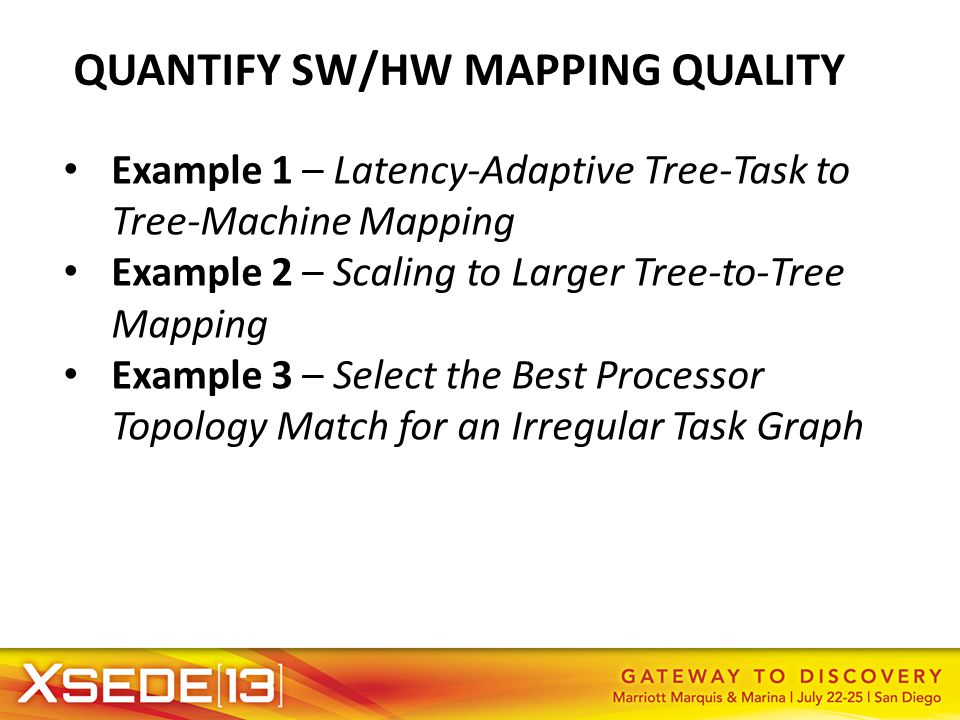 QUANTIFY SW/HW MAPPING QUALITY