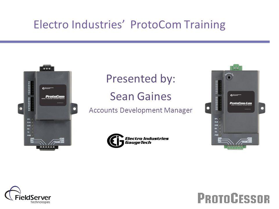 Electro Industries' ProtoCom Training