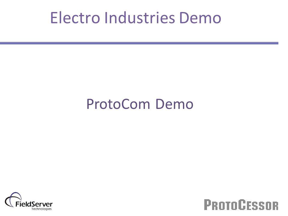 Electro Industries Demo