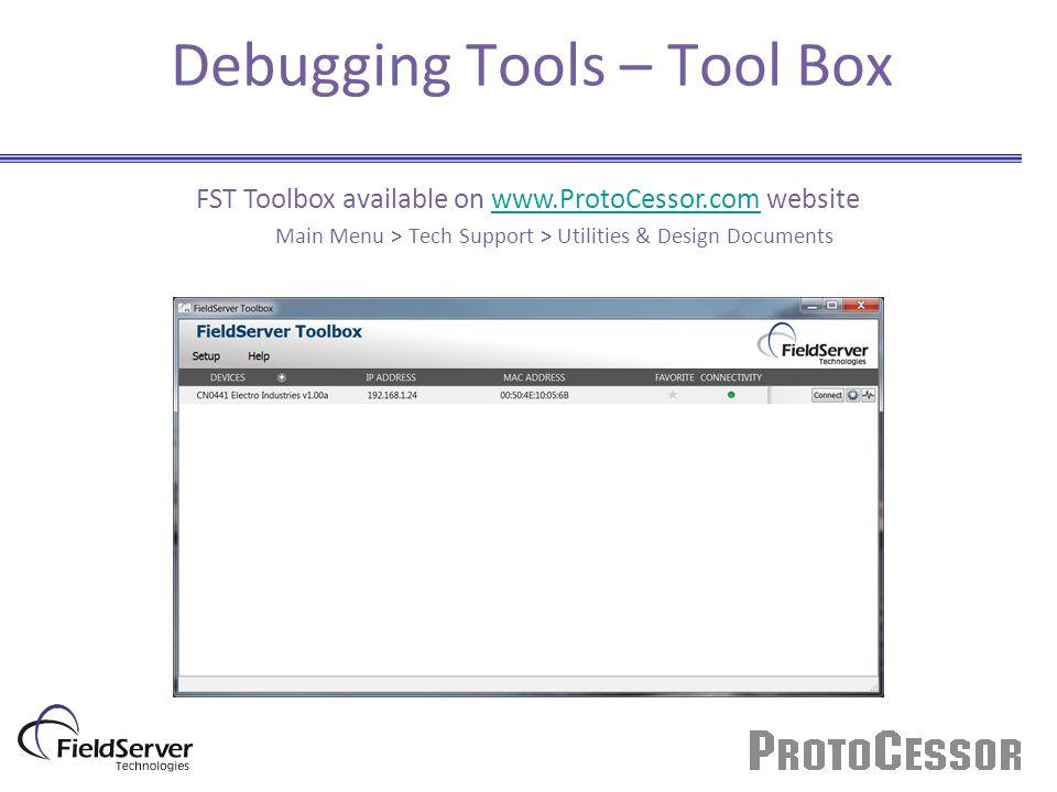 Debugging Tools – Tool Box