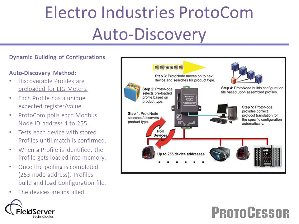 Electro Industries ProtoCom Auto-Discovery