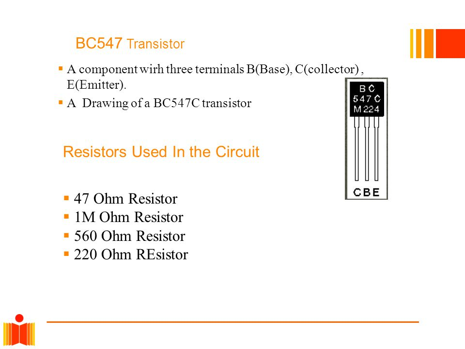 Resistors Used In the Circuit