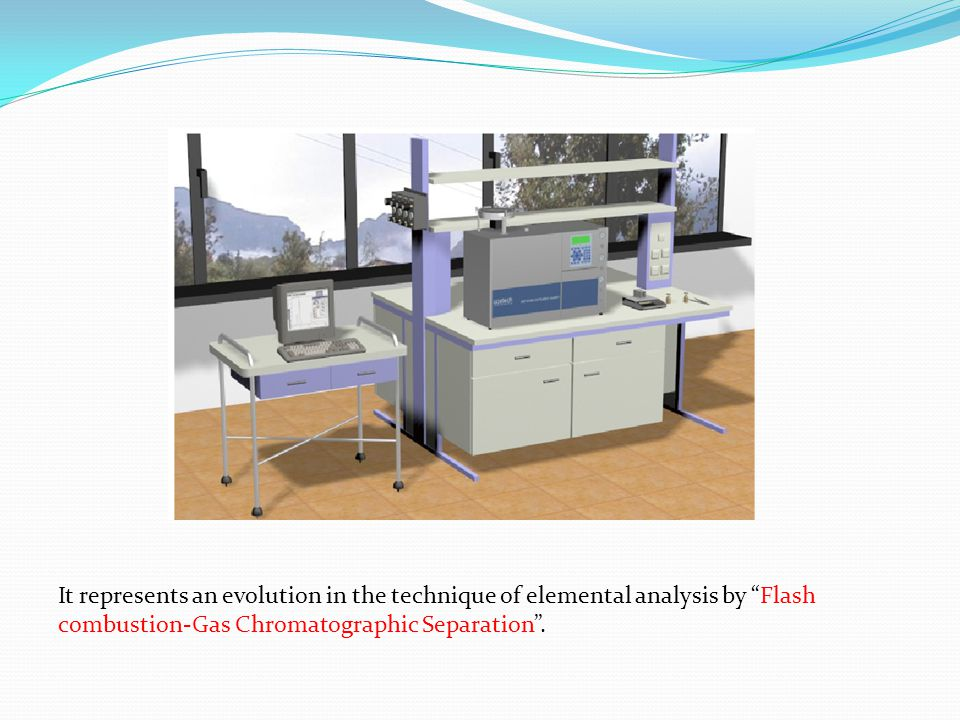 It represents an evolution in the technique of elemental analysis by Flash combustion-Gas Chromatographic Separation .
