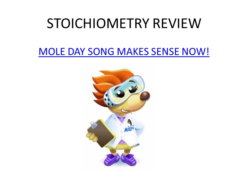 MOLE DAY SONG MAKES SENSE NOW!