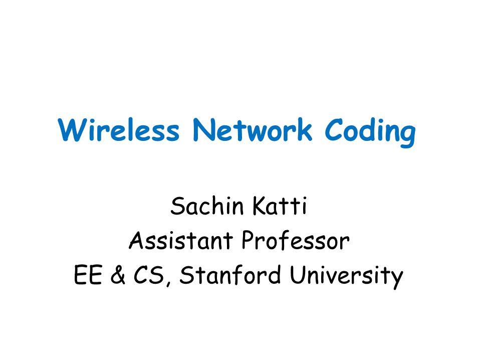 Wireless Network Coding