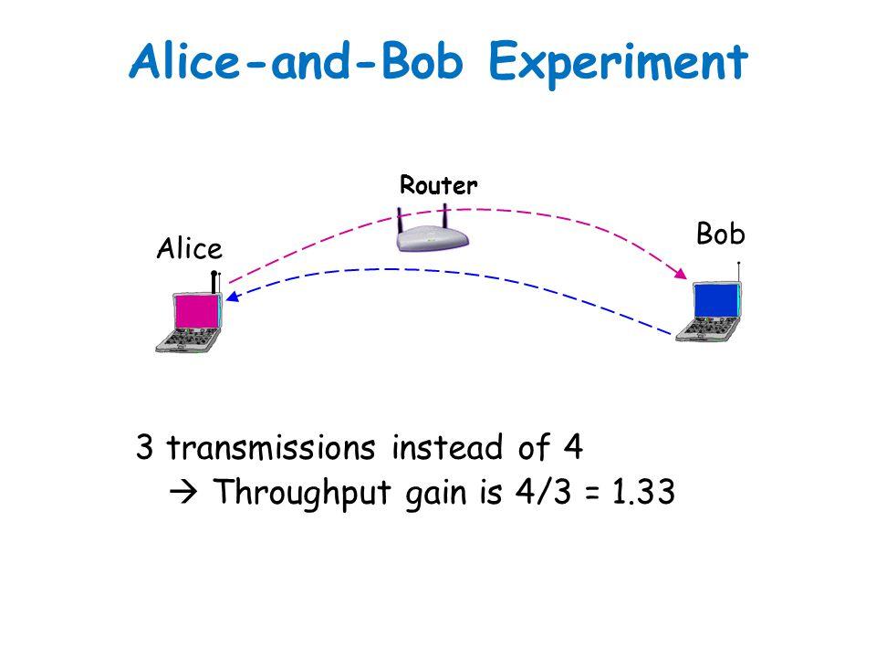 Alice-and-Bob Experiment