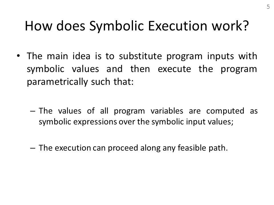 How does Symbolic Execution work