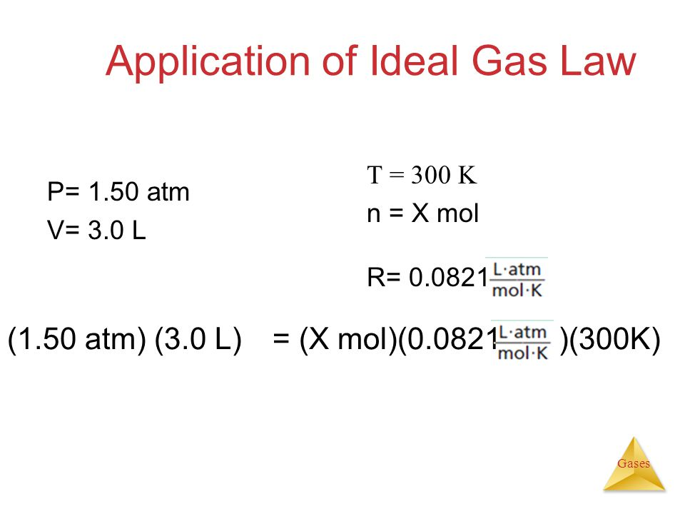 Application of Ideal Gas Law