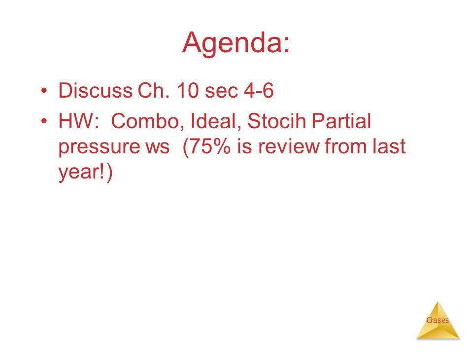 Agenda: Discuss Ch. 10 sec 4-6