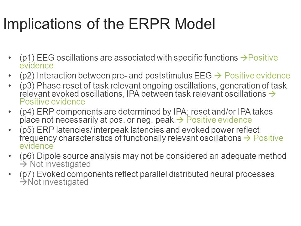 Implications of the ERPR Model