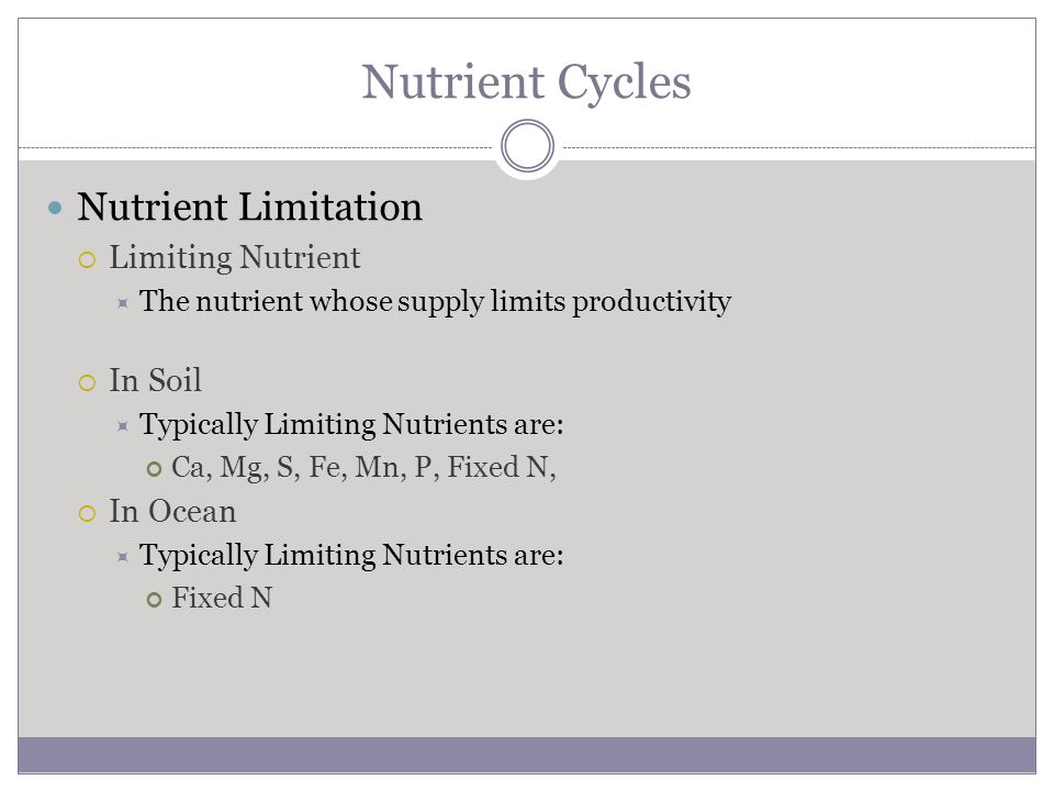 Nutrient Cycles Nutrient Limitation Limiting Nutrient In Soil In Ocean