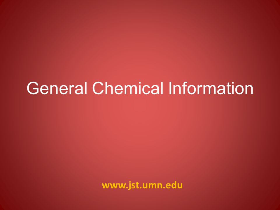 General Chemical Information