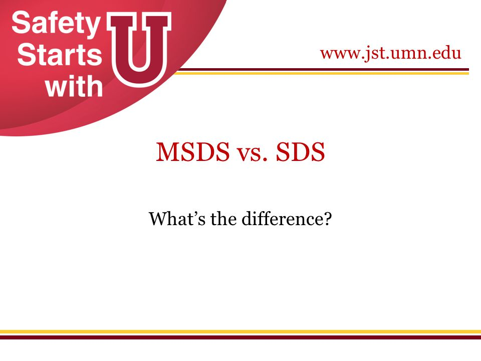 MSDS vs. SDS What's the difference