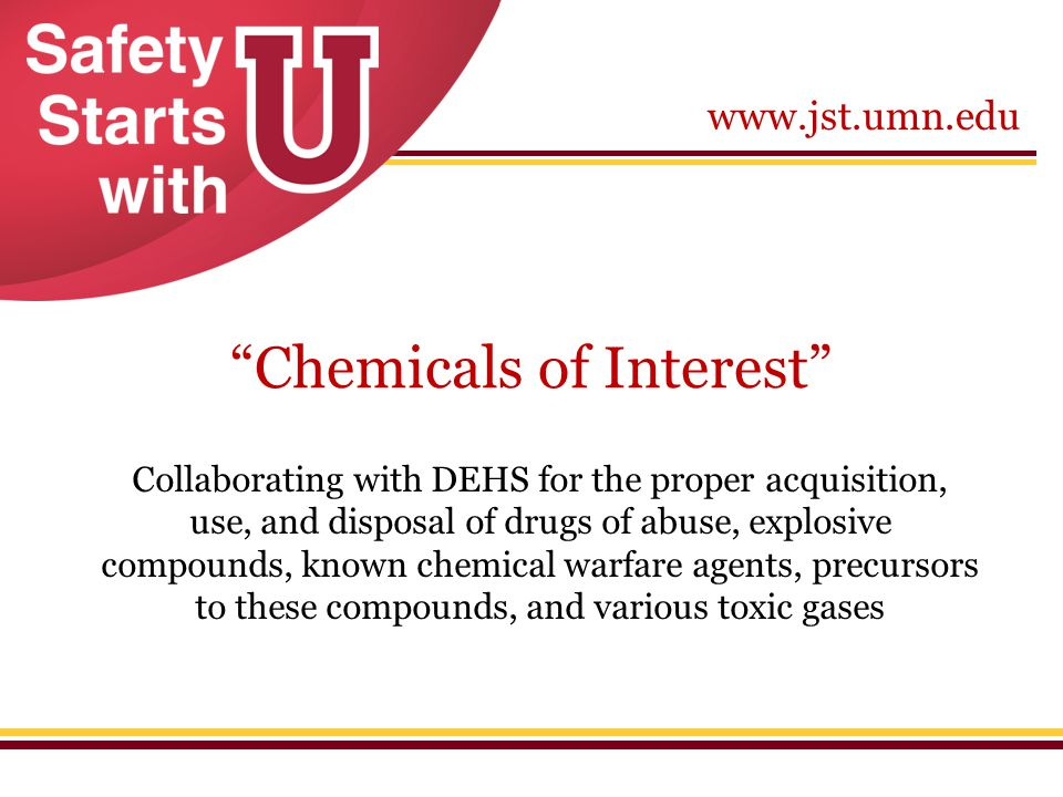 Chemicals of Interest