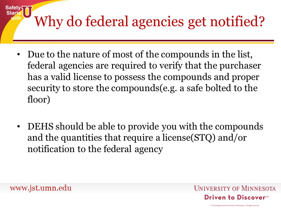 Why do federal agencies get notified
