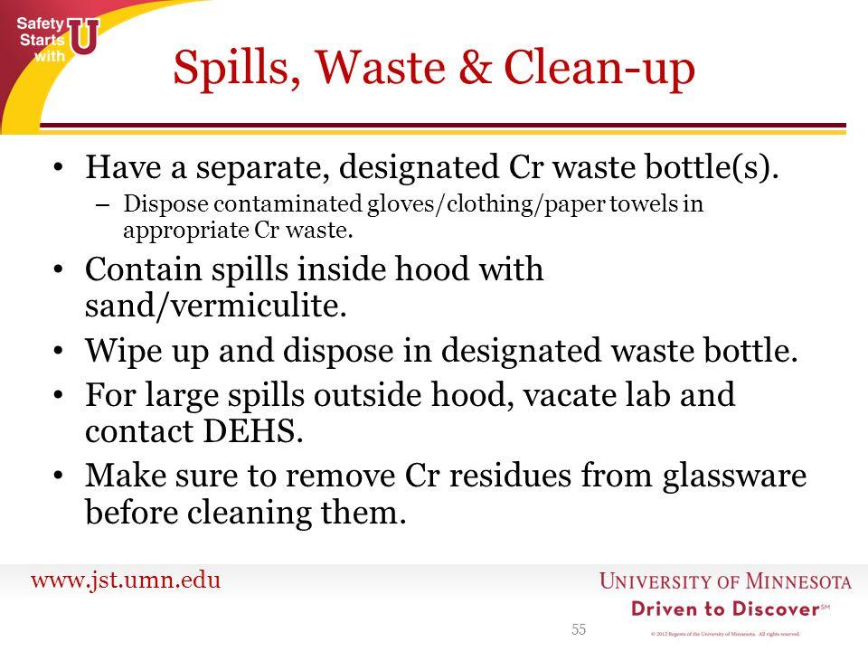 Spills, Waste & Clean-up