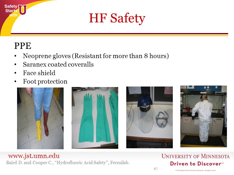 HF Safety PPE Neoprene gloves (Resistant for more than 8 hours)