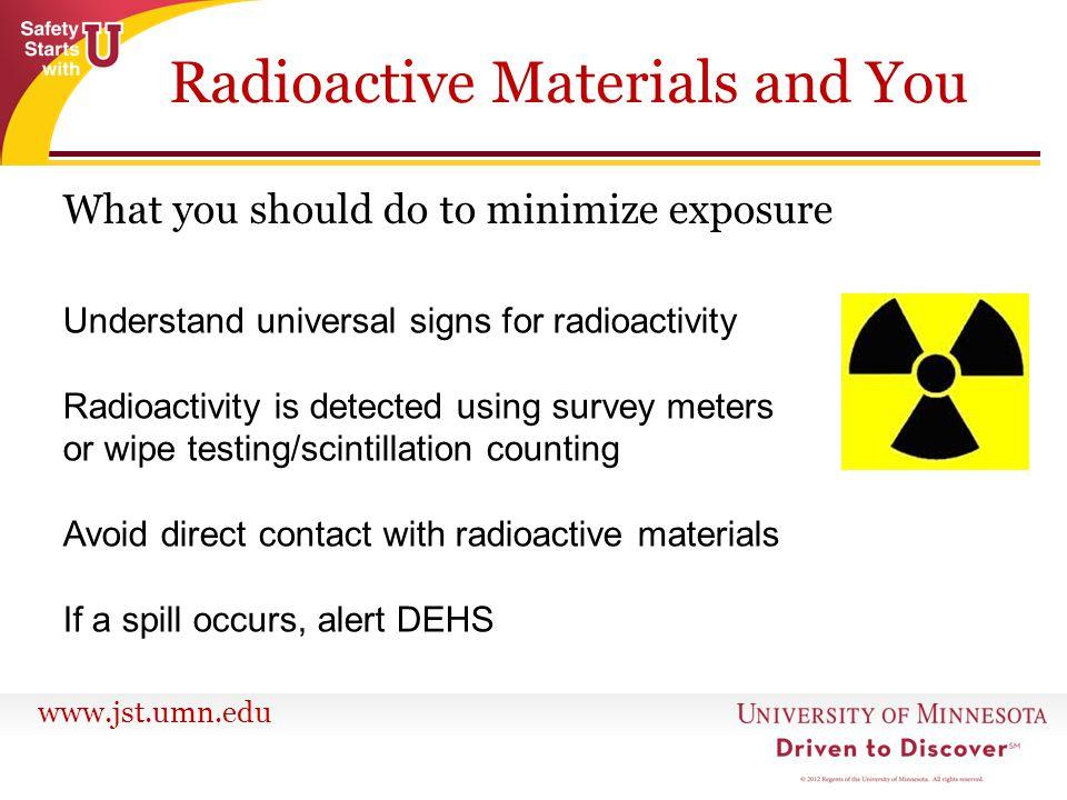 Radioactive Materials and You