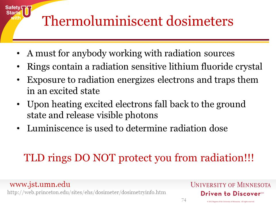 Thermoluminiscent dosimeters