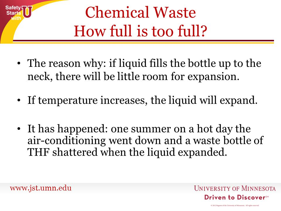 Chemical Waste How full is too full