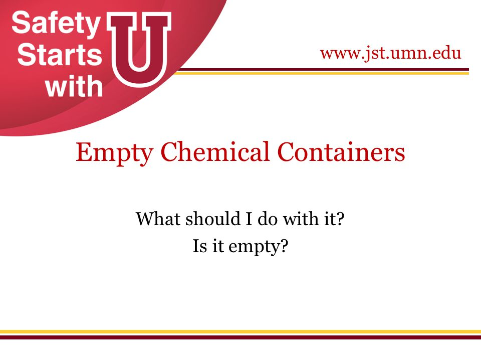 Empty Chemical Containers