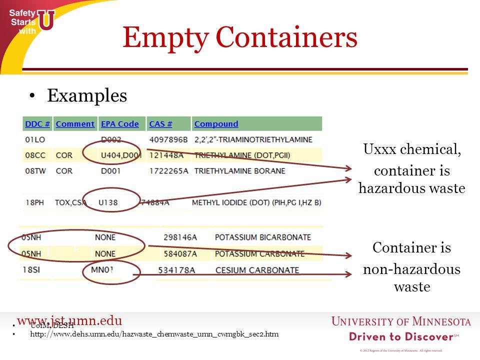 container is hazardous waste